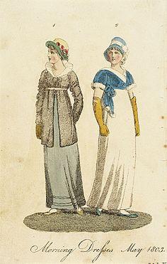 Ladies' Museum. Morning Dresses, May 1803.