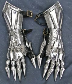 Dark Lord's gauntlets SCA LARP armor gauntlets larp armor sca armor fantasy steel gauntlets steel armor larp gauntlets sca gauntlets Larp Armor, Cosplay Armor, Knight Armor, Medieval Armor, Medieval Gown, Inspiration Drawing, Character Design Inspiration, Black Leather Gloves, Leather Armor