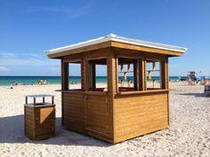 The James Royal Palm in Miami Beach, FL. Custom beach hut equipment by CustomBeachHuts.com