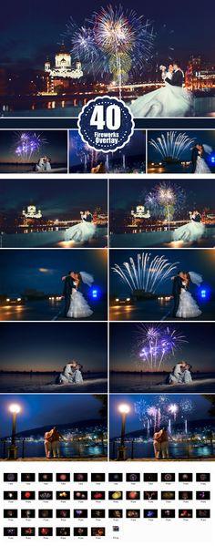 fireworks Photo Overlays, Photoshop Overlay, Wedding Party Firework Sparklers light, Night Holiday, Lighter Effect, jpg file