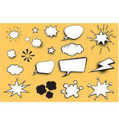 Set comic bubble vector Free Vector Images, Vector Free, Comic Bubble, Brunette Woman, Bubbles, Royalty, Kids Rugs, Artist, Royals