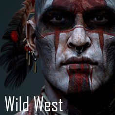 Warrior of the shadows/ Wild West challenge, Aidin Salsabili Native American Face Paint, Native American Warrior, Native American Pictures, Native American Artwork, Native American Quotes, American Indian Art, Native American History, American Indians, Native Art