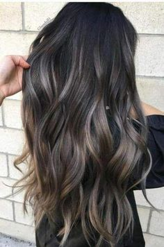 Marvelous gray to brown hair color on long wavy hair Hair 22 New Gorgeous Hair Color Trends For 2019 Gorgeous Hair Color, Hair Color Dark, Brown Hair Colors, Blonde Color, Long Hair Colors, Hair Color Ideas For Black Hair, Ombre Color, Color For Curly Hair, Winter Hair Colour