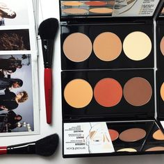 #Contour one contour all. Fair/light types the top palette's for you. Medium/dark tones the one below is all you. by smashboxcosmetics