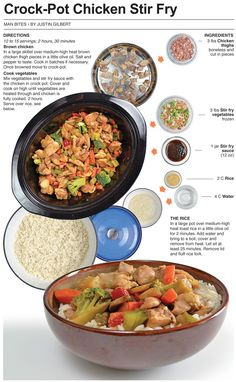 Crock-Pot Chicken Stir Fry. Sounds easy and looks delicious!