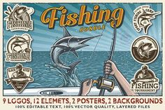 Logo Templates: IMOGI graphics - Fishing bundle