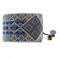 Bracelet manchette MISHKY RAYS BLEU GRIS                                                                                                                                                                                 Plus