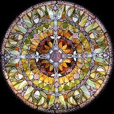 Art glass mandala by marcella
