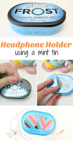 Easiest way to store your headphones .... transition a mint tin in to a earphone holder!