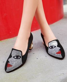 Half Face Slip-On Elegant High Heels Pumps Plus Size - Seamido High Heel Boots, High Heel Pumps, Pumps Heels, Stiletto Heels, Shoe Boots, Mode Shoes, Studded Heels, Prom Shoes, Lace Up Heels