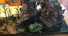 photo Halloween Village Display, Hawthorne Village, Vignettes, Diorama, Scary, Explore, Building, Miniature, Painting