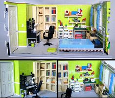 Bedroom vs. LEGO Bedroom by quý, via Flickr