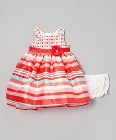 93cb6d4ae2 Dark Orange Stripe Dress - Infant #zulily #zulilyfinds Cute Girl Outfits,  Little Girl
