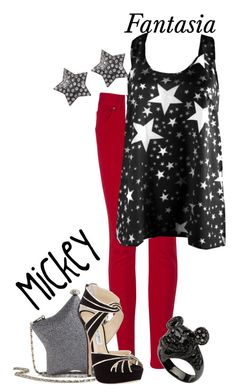 """""""Mickey-Fantasia"""" by polyspolyvore ❤ liked on Polyvore featuring moda, Ted Baker, Ally Fashion, Jimmy Choo, Jane Norman, women's clothing, women's fashion, women, female y woman"""