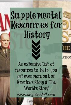 Here it is - an extensive list of resources to help you and your child get even more out of both America's Story and The World's Story! World History Book, History Books, High School Courses, Voice Of America, List Of Resources, American Story, Story Of The World, S Stories, Any Book