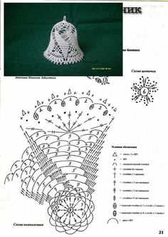 Witam:) To co wczoraj zobaczyłam na swojej tablicy na FB S - SalvabraniCrochet Patterns Christmas Photo only. No pattern - Salvabrani - SalvabraniAnges au crochet Plus - SalvabraniCrochet Bell About tall with threadLearning to knit crochet bells on Crochet Snowflake Pattern, Christmas Crochet Patterns, Holiday Crochet, Crochet Snowflakes, Doily Patterns, Crochet Diagram, Crochet Chart, Thread Crochet, Crochet Motif