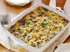 Start your day with healthy recipes for egg casseroles, frittatas, pancakes, waffles and more.