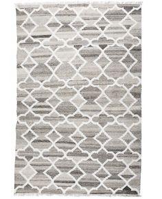 Petra Light Natural Wool & Bamboo Flatweave Rug