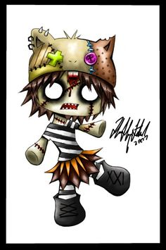 Zombie_chibi_commission_by_ScaryFace.jpg (398×600)