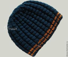 Демисезонная классическая мужская шапка Синий турмалин - классическая шапка, мужская шапка