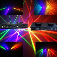 RGYV 4  Lens 360mW DMX DJ  Laser Stage Light  Club Party Lighting projector Show #generic