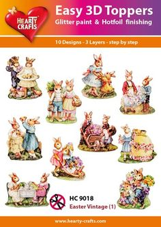 Nieuw bij Knutselparade: 5R Hearty Crafts Easy 3D Toppers HC9018 Pasen Vintage (1) https://knutselparade.nl/nl/hearty-crafts-easy-3d-toppers/9009-5r-hearty-crafts-easy-3d-toppers-hc9018-pasen-vintage-1-8714324280384.html   Stansvellen, Hearty Crafts Easy 3D Toppers -  Hearty Crafts