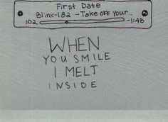 Blink 182 - First Date Definitely one of my favorite songs by them. <3