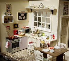 I think I have just discovered a wonderful new miniaturist that I never knew about!!!  Kozue Miura kitchen☆