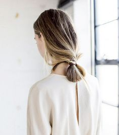 This loose bun is unexpectedly polished, thanks to sleek strands and megawatt shine