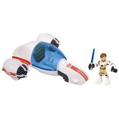 Amazon.com: Star Wars Jedi Force Playskool Heroes Freeco Bike with Obi-Wan Kenobi Set: Toys & Games