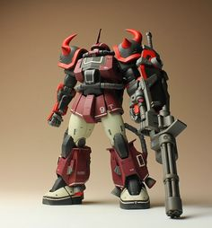 Found these awesome images of scratched built High Mobility Zaku II Ground Type Kai over the net.   This Mobile Suit was first seen in Gunda...