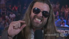 Sorry about your damn small penis    #wrestling #tna #impact #james #storm #gif