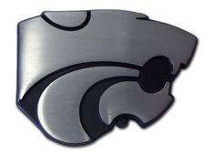 K State Powercat Matte Chrome Car Emblem