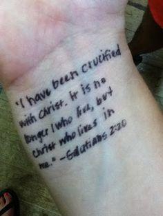 Scripture Tattoo's - K-Seven Kamp