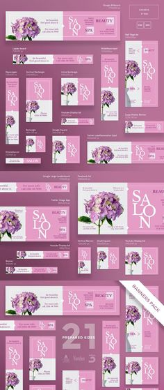 Banners Pack | Beauty Salon Spa