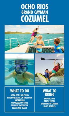 Our Ocho Rios, Grand Cayman, and Cozumel trip has it all. The only question is, can you handle that much fun?