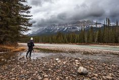 Kristen Ryan at Castle Mountain in Banff National Park captured by Gina Yeo. Banff Photography, Photography Filters, Landscape Photography, Yoho National Park, National Parks, Emerald Lake, Natural Bridge, Canadian Rockies, Once In A Lifetime