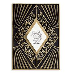Spellbinders founder and President, Stacey Caron too inspiration from the art deco era with bold geometric shapes and lavish ornamentation to make stunning dies for this on-trend style. Her dazzling Renaissance line will be instant classics for all Spellb Card Making Inspiration, Making Ideas, Art Deco Cards, Decoupage, Casual Art, Renaissance, Homemade Art, Birthday Cards For Women, Plate Art