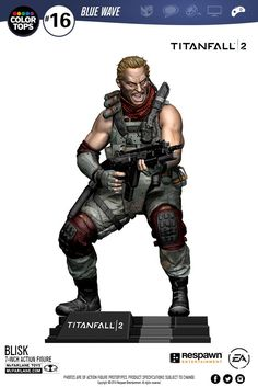 These New Titanfall 2 Figures Offer Unparalleled Detail  Two new Titanfall 2 figures have been revealed as made by McFarlane Toys.  The first is of 'Blisk' a former special-ops commander for the IMC who in Titanfall 2 is in charge of a mercenary faction called the Apex Predators. Blisk's figure is 7 inches tall has multiple points of articulation aG2A2 Assault Rifle a Mozambique sidearm and a Titanfall 2 display base.  Blisk is set to release in February 2017 for $19.99.  Continue reading…