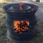 DIY Wood Stove or Outdoor Fireplace - Can't find the original source but would l. DIY Wood Stove o