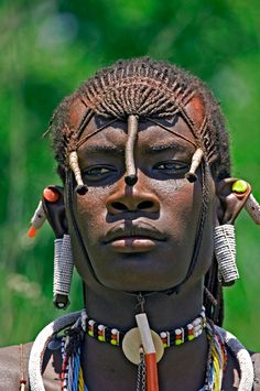 Holy!!! One of the most masculine and beautiful faces i have ever seen!!! Africa | Maasai Moran. Lake Natron, Tanzania |