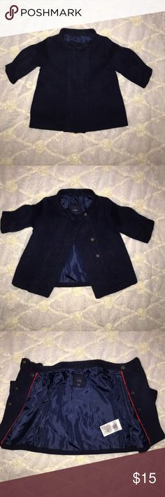 Baby Girl Pea Coat *Like New* A beautiful navy Pea Coat for your little fashionista!!! Fully lined with 3 snaps at the top. babyGap Jackets & Coats Pea Coats