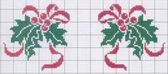 Holly and Ribbon Wedding Cross Stitch Patterns, Modern Cross Stitch Patterns, Counted Cross Stitch Patterns, Cross Stitch Charts, Cross Stitch Designs, Cross Stitch Embroidery, Cross Stitch Christmas Cards, Xmas Cross Stitch, Christmas Cross