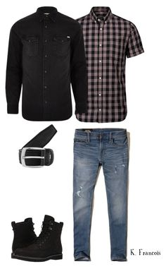 """""""Outfit4"""" by keeshafrancois on Polyvore featuring Hollister Co., Jack & Jones, River Island, Timberland, Renato Balestra, men's fashion and menswear"""