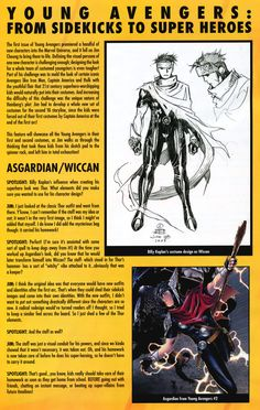 Jim Cheung about Wiccan's Outfit (Marvel Spotlight - Warren Ellis & Jim Cheung)