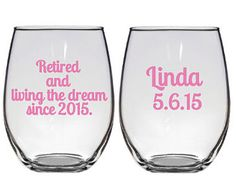 Retirement Gift, Retirement Party, Teacher Retirement, Retirement Gift for Women, Retirement Wine Glass, Retirement Party Decor, Party Ideas
