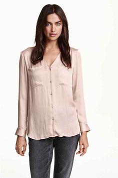 Blusa de decote em V   H&M