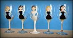 Bridal Party Wine Glasses  FB: Treasured Mementos