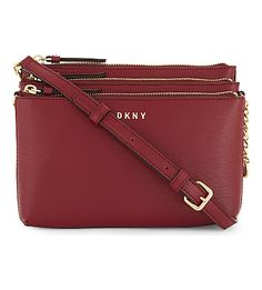 DKNY Bryant Park leather cross-body bag. #dkny #bags #shoulder bags #leather #