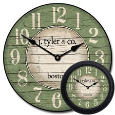 red clock Style of numbers retro Clocks Back, Big Clocks, Clocks For Sale, Wood Clocks, Large Wall Clocks, Rustic Wall Clocks, Wire Spool, Wooden Spools, Red Wall Clock